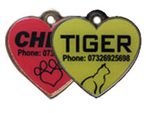 Full Colour Heart Tags