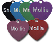 Aluminium Heart Tags