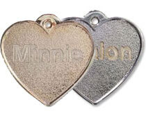 Metal Heart Tags