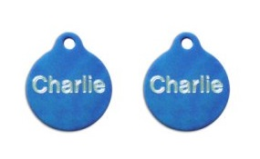 Aluminum Blue Round Tags - Small