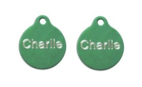 Aluminum Green Round Tags - Small