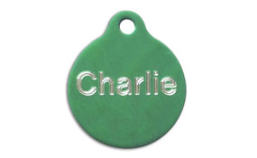Aluminum Green Round Tags - Large