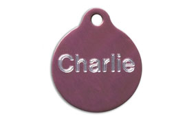 Aluminum Pink Round Tags - Large