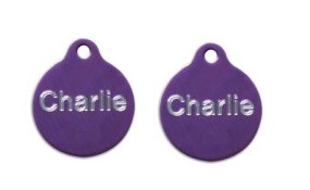 Aluminum Purple Round Tags - Small