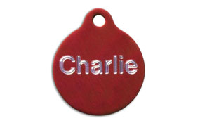Aluminum Red Round Tags - Large