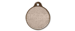 Metal Round Shape Tags Large - Brass