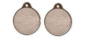 Metal Round Shape Tags Small - Brass