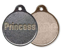 Metal Round Shaped Pet Tags Online